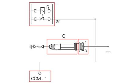 Schema elettrico sonda lambda 4